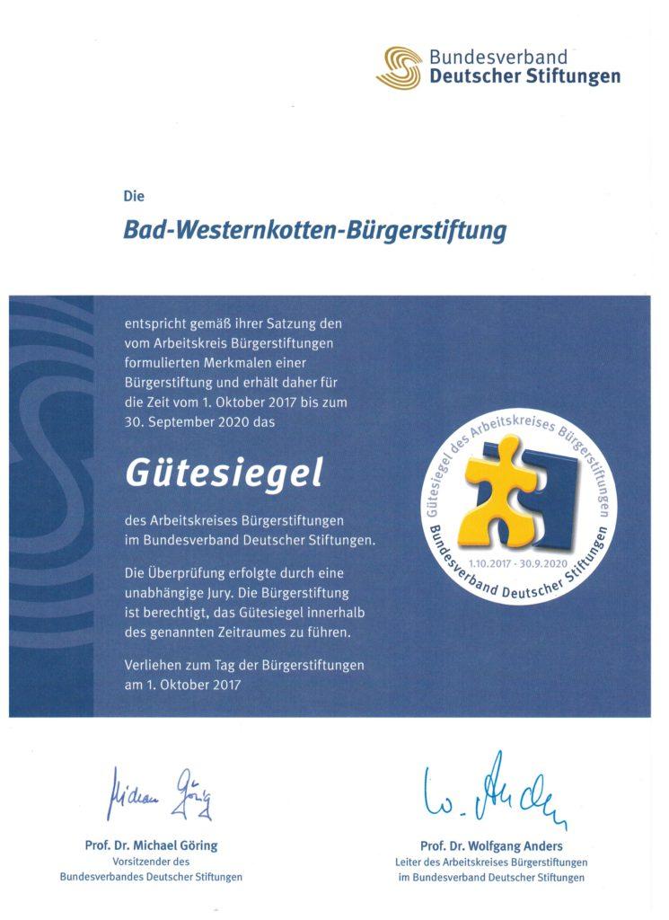 Gütesiegel Stiftung