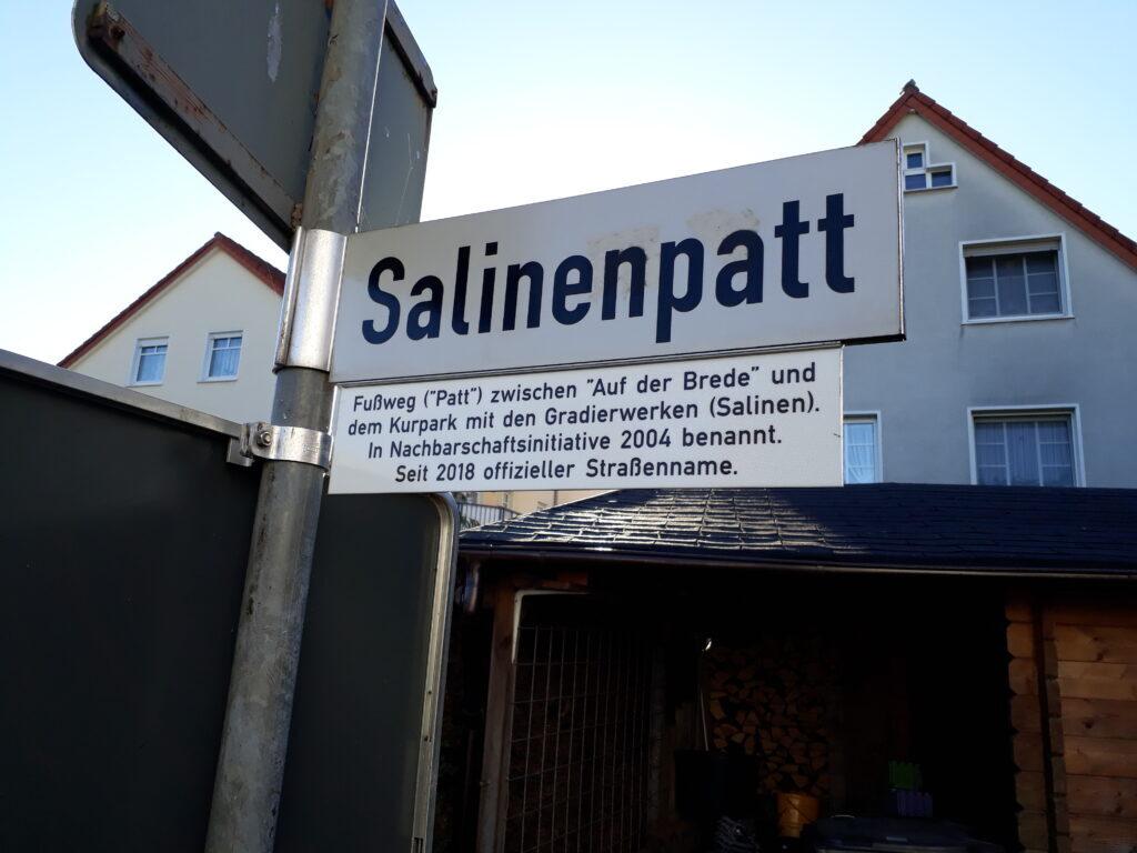 Legendenschild Salinenpatt